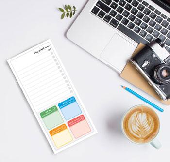 بسته 6 تایی لیست انجام کارهای روزانه با جدول آیزنهاور